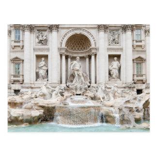 A fonte do Trevi (italiano: Fontana di Trevi) Cartão Postal