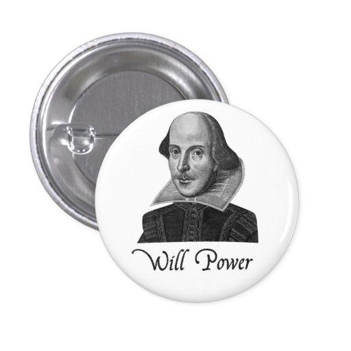 A força de vontade de William Shakespeare Botons