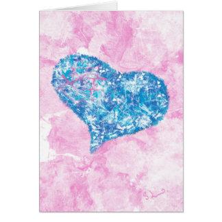 A forma de meu coração - cartão da arte abstracta