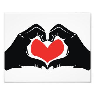 A forma do coração entrega a ilustração com impressão de foto