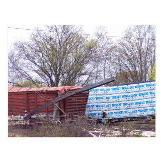 A foto 1 CSX do descarrilamento da estrada de Cartão Postal