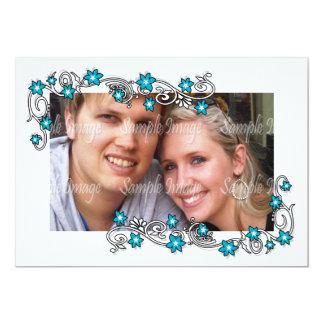 A foto branca azul do noivado PERSONALIZA Convites Personalizado