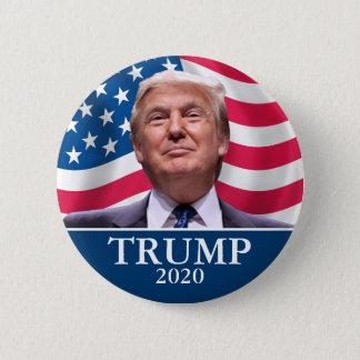 A foto de Donald Trump - presidente 2020 - Bóton Redondo 5.08cm