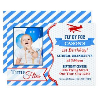 A foto do convite | do aniversário do avião