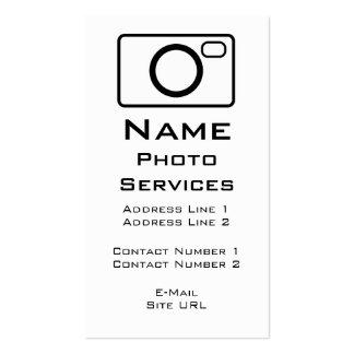 A foto presta serviços de manutenção ao cartão de cartão de visita
