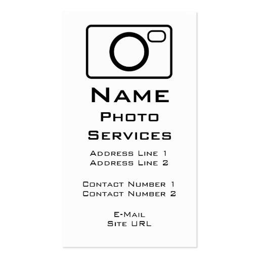 A foto presta serviços de manutenção ao cartão de  modelos cartão de visita
