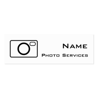 A foto presta serviços de manutenção ao cartão de cartão de visita skinny