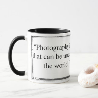 A fotografia da caneca é a única língua Barbey