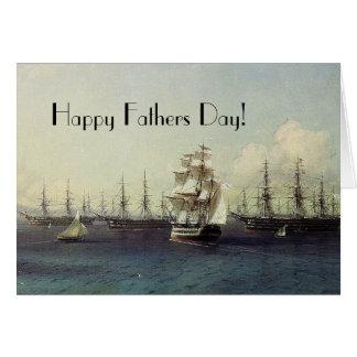 A fragata da navigação envia o cartão do dia dos