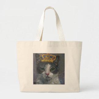 A galeria da cauda de gato ensaca - é bom ser rei bolsa tote grande