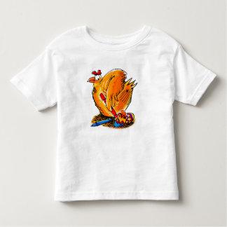 a galinha da caricatura da páscoa pinta seu camiseta infantil