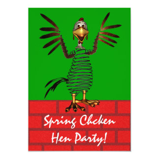 A galinha de primavera convida convite 12.7 x 17.78cm