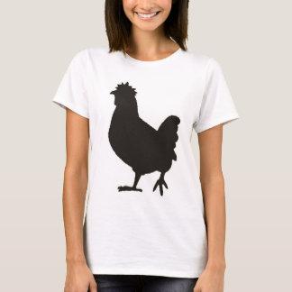 a galinha é o preto novo camiseta