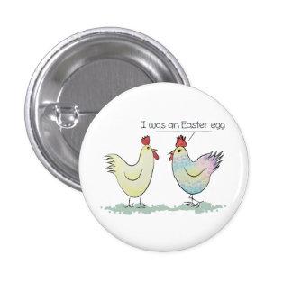 A galinha engraçada era um ovo da páscoa bóton redondo 2.54cm