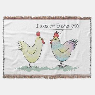 A galinha engraçada era um ovo da páscoa manta