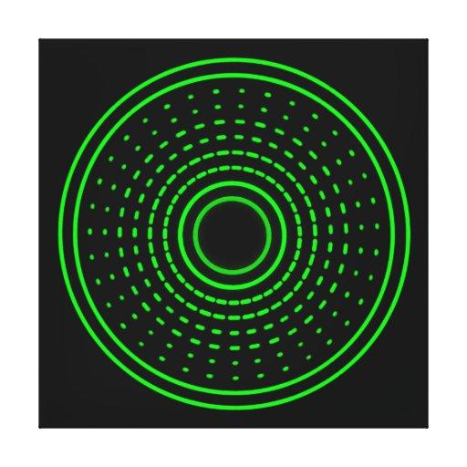 A gama estrangeira do abstrato do verde do alarme  impressão de canvas envolvidas