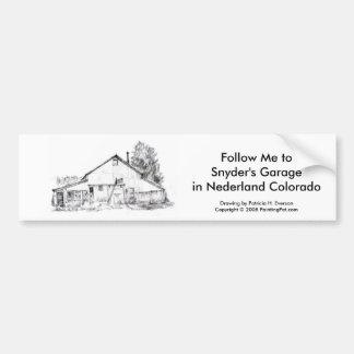 A garagem de Snyder, etiqueta de Bumber Adesivo Para Carro