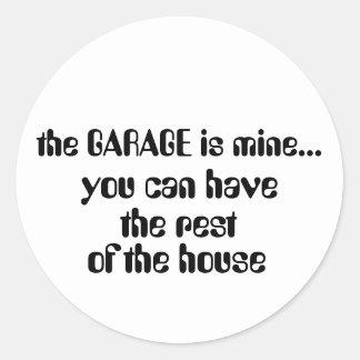 a GARAGEM é minha…, Adesivo