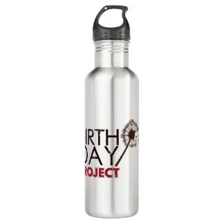 A garrafa de água do logotipo do projeto do
