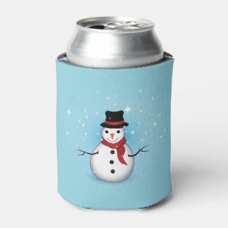 A garrafa do boneco de neve/pode refrigerador porta-lata