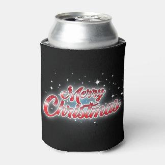 A garrafa preta alegre de Christmason/pode Porta-lata