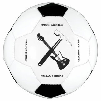 A geologia balança a bola de futebol