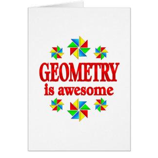 A geometria é impressionante cartão comemorativo