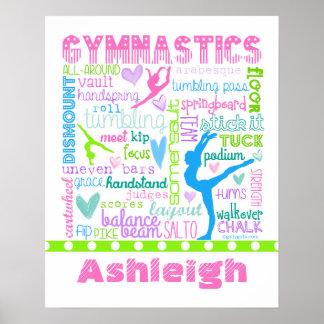 A ginástica Pastel personalizada exprime a Poster