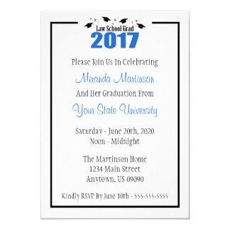 A graduação 2017 da escola de direito convida (os convite 12.7 x 17.78cm