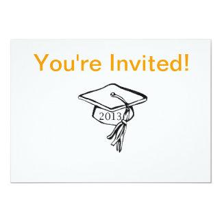 A graduação básica convida convite 12.7 x 17.78cm