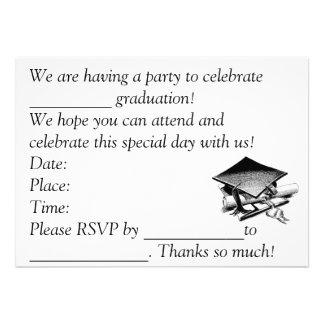 A graduação convida convites personalizado