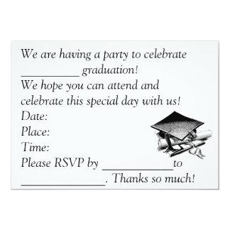 A graduação convida convite 12.7 x 17.78cm