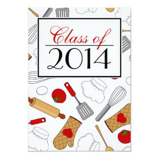 A graduação culinária bonito da escola convida convites personalizados