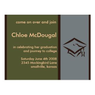 A graduação customizável convida a azeitona cartão postal