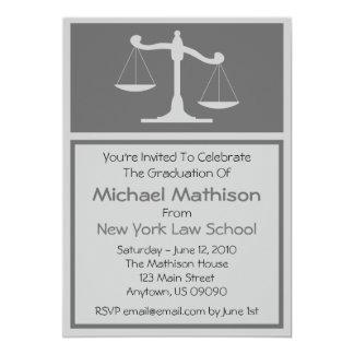 A graduação da escola de direito convida (as convites personalizado