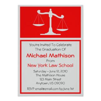 A graduação da escola de direito convida (as convite 12.7 x 17.78cm