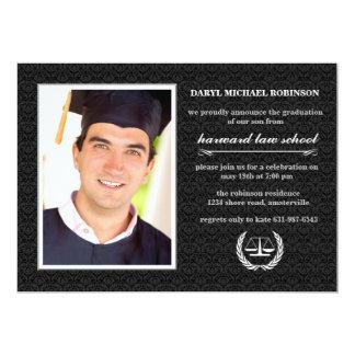 A graduação da escola de direito da foto do convite 12.7 x 17.78cm