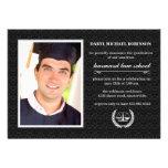 A graduação da escola de direito da foto do símbol convite personalizados