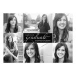 A graduação moderna do roteiro de 6 fotos convida