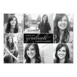 A graduação moderna do roteiro de 6 fotos convida convites