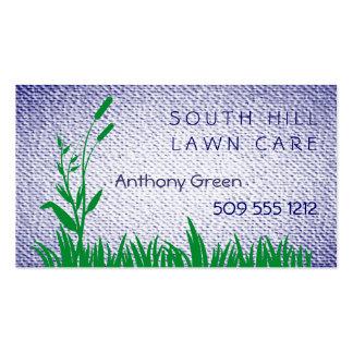 A grama e a erva daninha Textured o fundo do olhar Cartões De Visitas