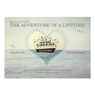 A grande aventura - convite de casamento