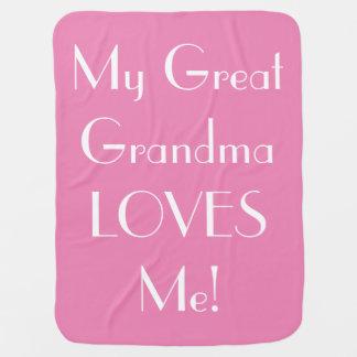 A grande avó ama-me cobertura do bebê - rosa cobertores de bebe