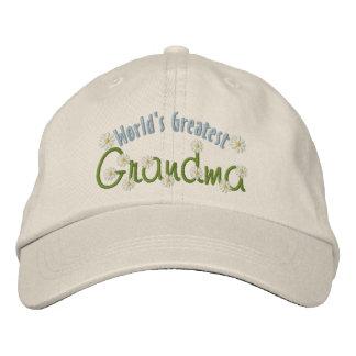 A grande avó do mundo boné bordado