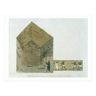 A grande câmara na segunda pirâmide de Ghizeh, Cartão Postal
