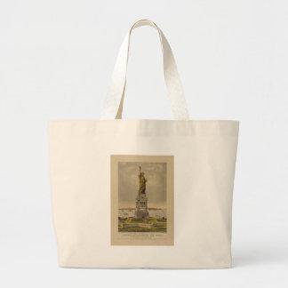 A grande estátua de Bartholdi pelo Currier & pelo Bolsas Para Compras