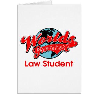 A grande estudante de Direito do mundo Cartão Comemorativo