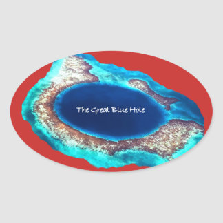 A grande etiqueta azul do furo