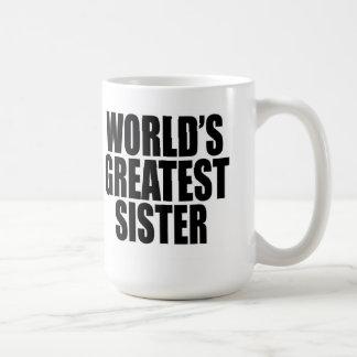 A grande irmã do mundo caneca de café