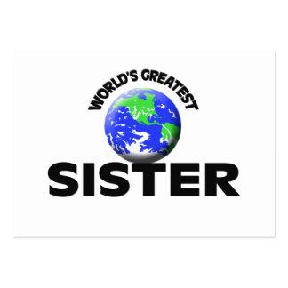 A grande irmã do mundo cartao de visita